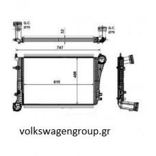 ΨΥΓΕΙΟ INTERCOOLER   ,VW,SEAT,SKODA,AUDI, (61,5x40.5x32)