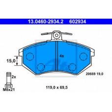 ΤΑΚΑΚΙΑ ΦΡEΝΩΝ ΕΜΠΡΟΣΘΙΑ ,VW,SEAT,AUDI, ATE  13.0460-2934.2