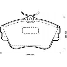 """ΤΑΚΑΚΙΑ ΦΡEΝΩΝ ΕΜΠΡΟΣΘΙΑ ,VW,T4,  ( 15"""" ΖΑΝΤΑ )  - ATE  13.0460-2982.2"""