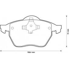ΤΑΚΑΚΙΑ ΦΡEΝΩΝ ΕΜΠΡΟΣΘΙΑ ,VW,AUDI ,A4 1994-1999 ,S4 1995-1999 ,PASSAT 1997-2000  ,PAGID  T.1093